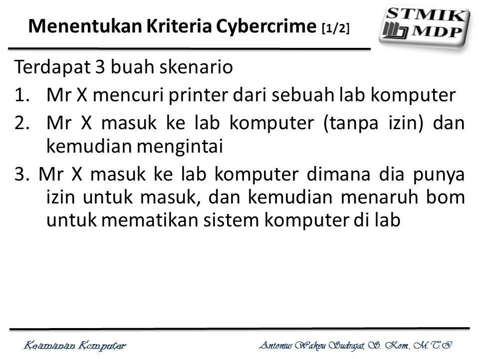 Menentukan Kriteria Cybercrime [1/2]